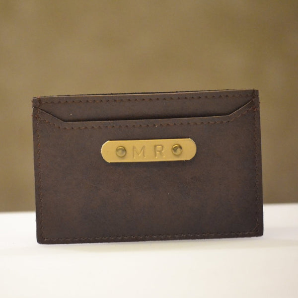 Personalised Coffee Brown Card Holder