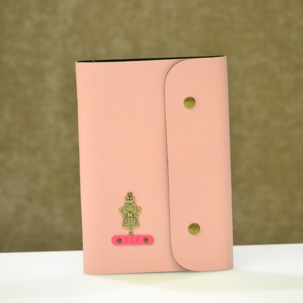 Personalized Pink Diary with Button