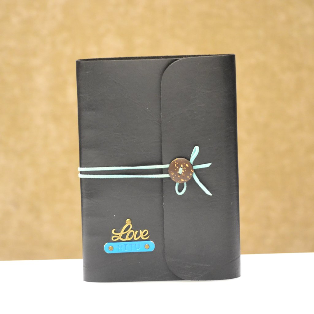 Charcoal Black with Blue Thread Diary