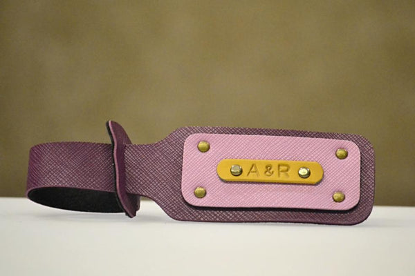 Personalized Purple Luggage Tag