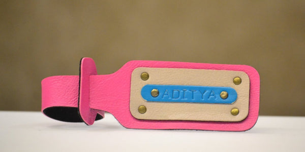 Personalized Pink Luggage Tag