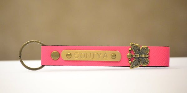 Hot Pink Keychain