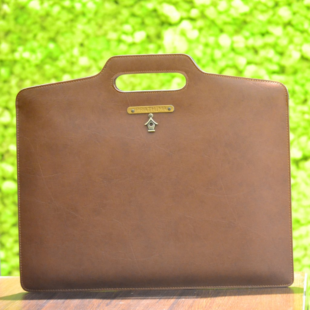 Tan Brown Laptop Bag