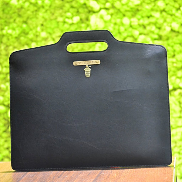 Personalized Charcoal Black Laptop Bag