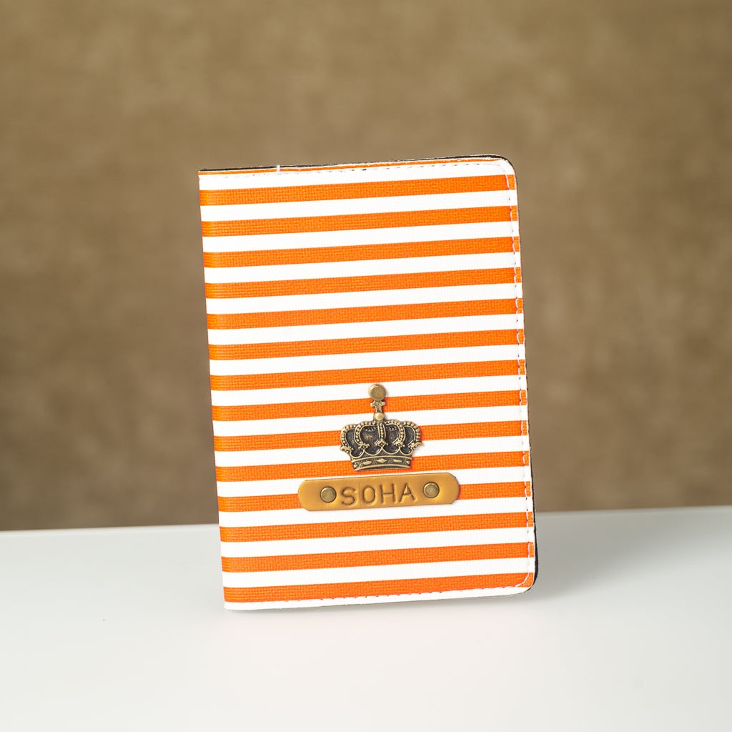 Orange Lining Passport Cover