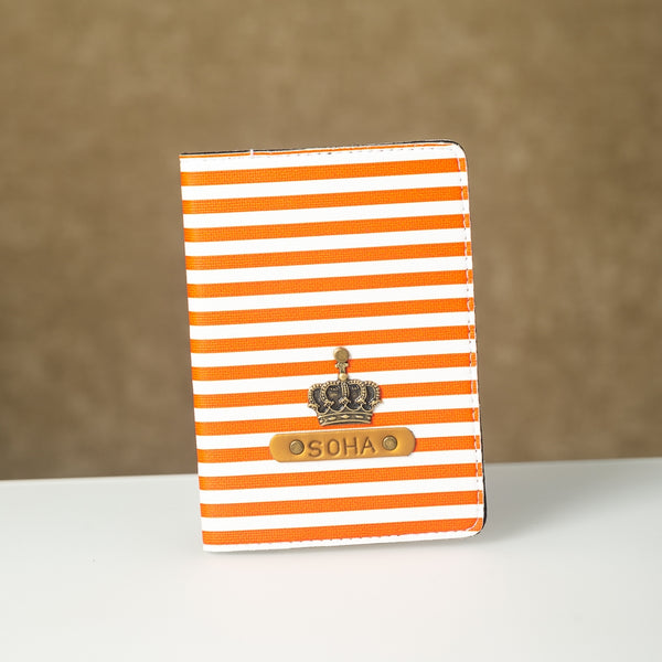 Personalized Orange Lining Passport Cover