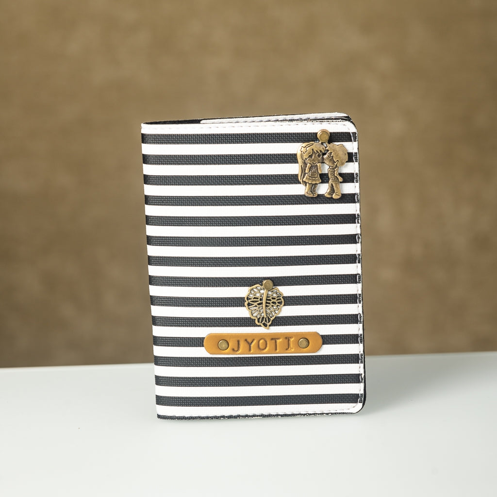 Black n White Lining Passport Cover