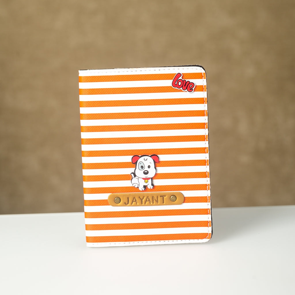 Signature Passport Cover - Orange Lining