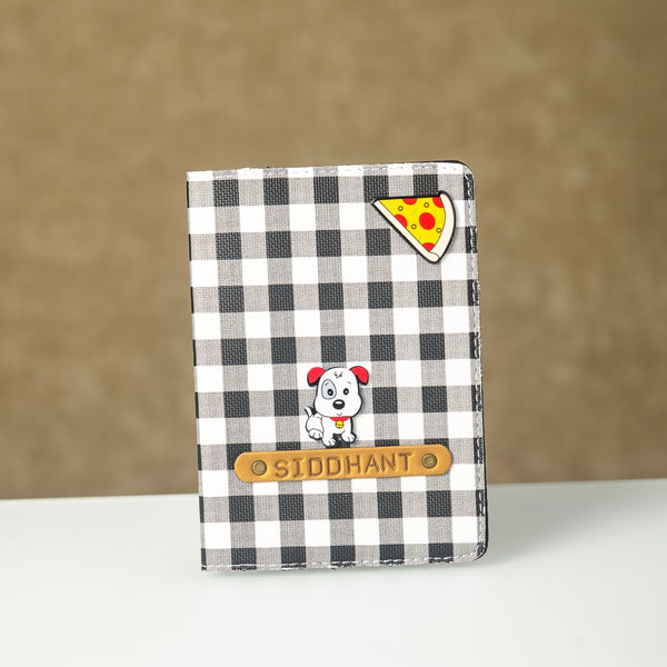 Signature Passport Cover - Black n White Checks