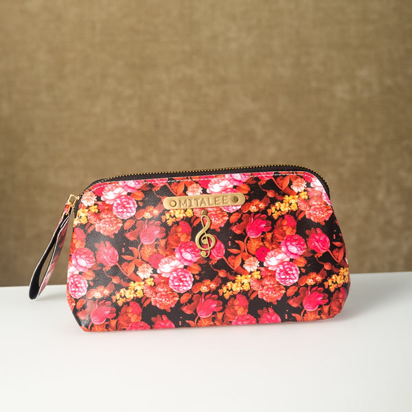 Pink Floral Pouch