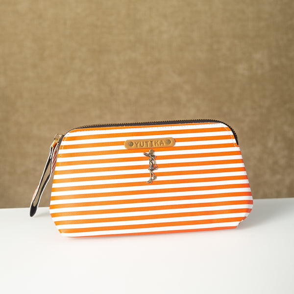 Personalized Orange Lining Pouch