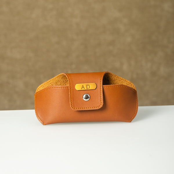 Tan Brown Eyewear Case