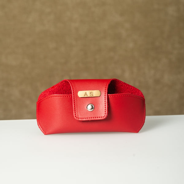 Personalized Red Eyewear Case