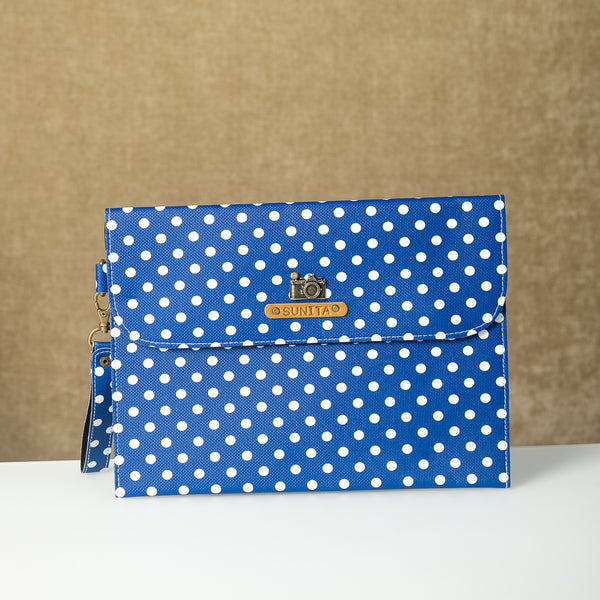 Dark Blue Polka Dots iPad Sleeve