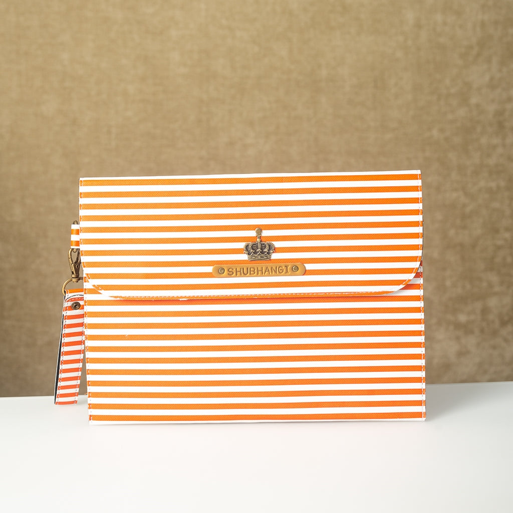 Personalized Orange Lining Laptop Sleeve