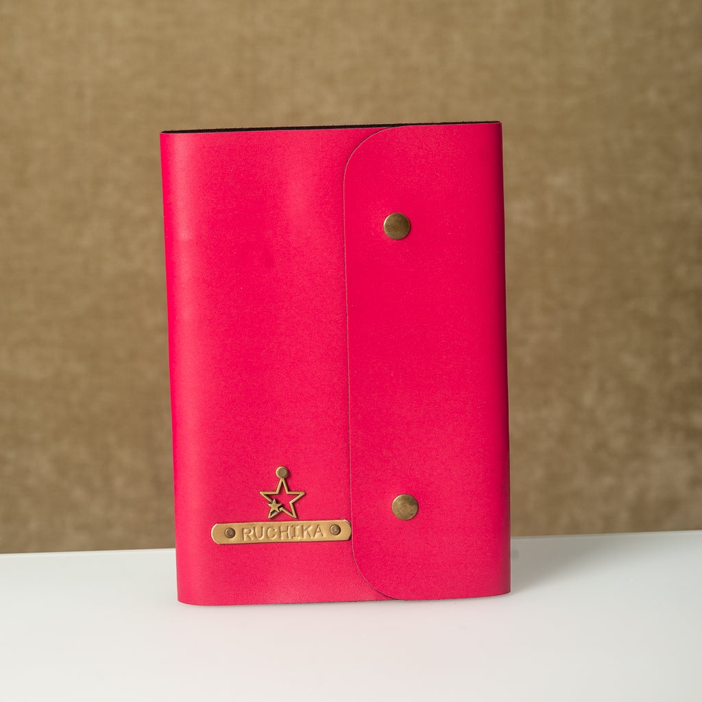 Fuchsia Pink Diary with Button