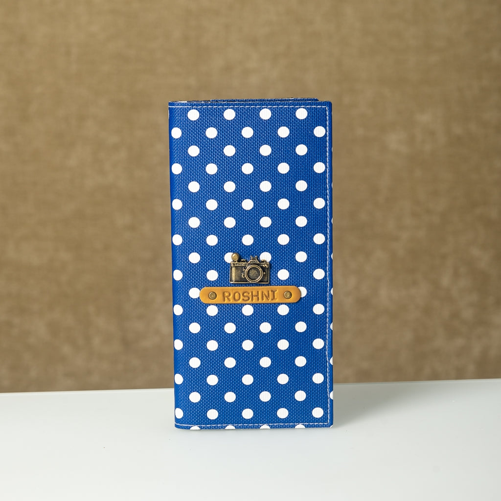Blue Polka Dots Travel Folder