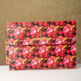 Personalized Pink Floral Laptop Sleeve