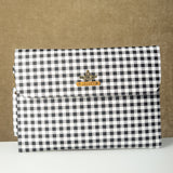Personalized Black n White Checks Laptop Sleeve