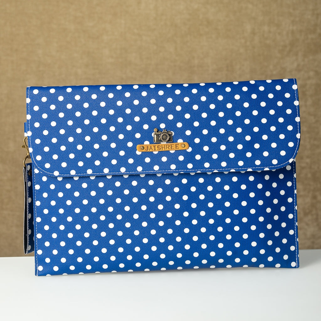 Blue Polka Dots Laptop Sleeve