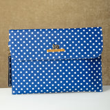 Personalized Blue Polka Dots Laptop Sleeve