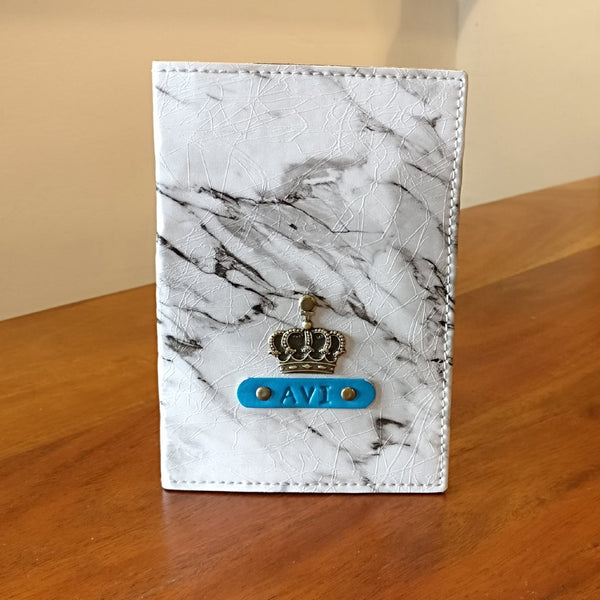 White Marble Passport Cover