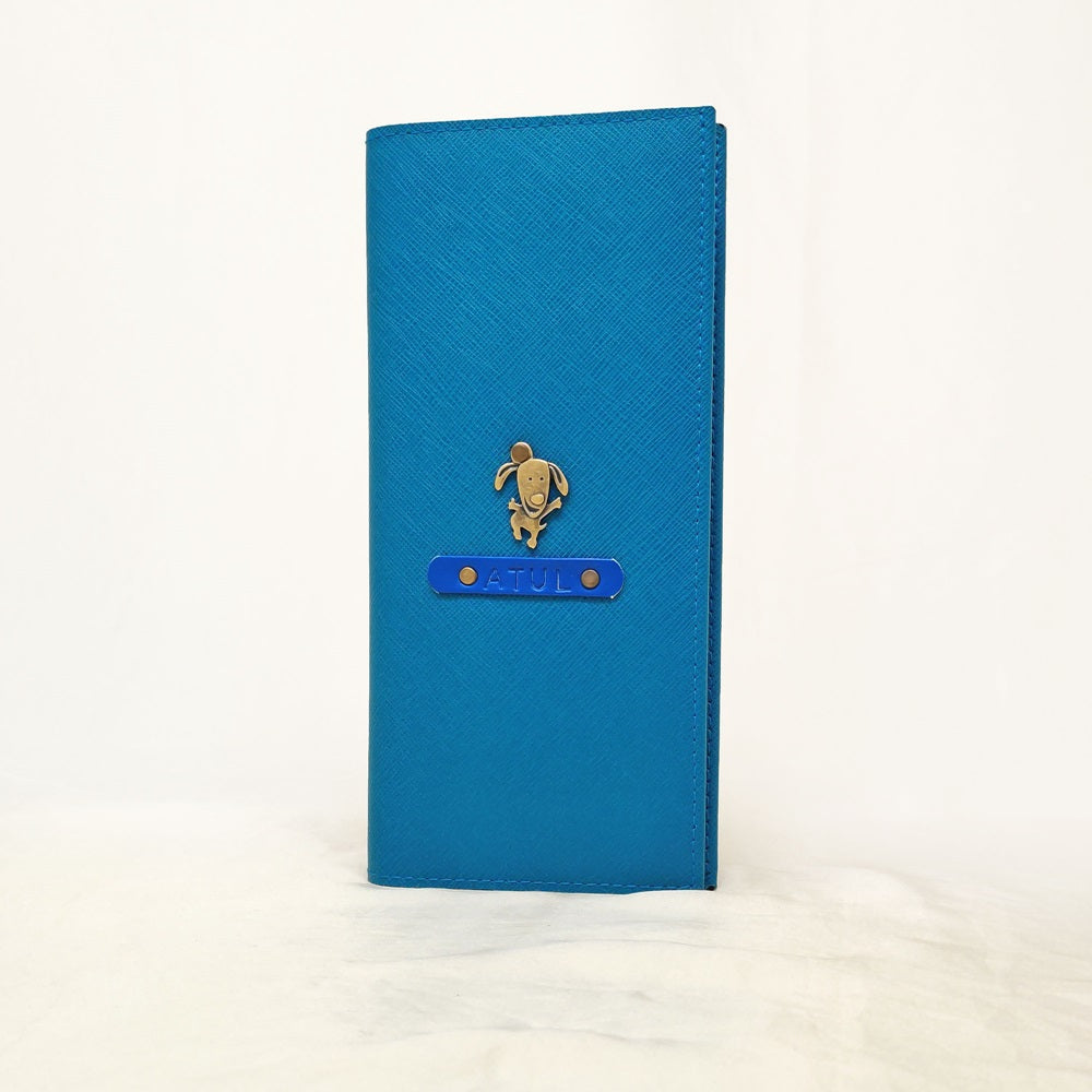 Coral Blue Travel Folder