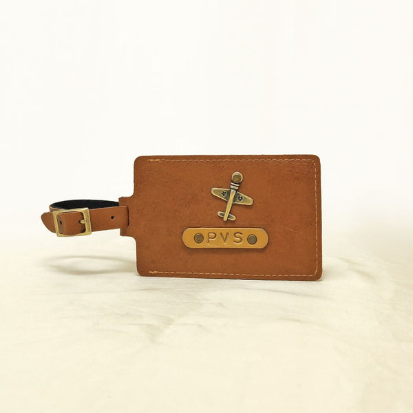 Rectangle - Tan Brown Luggage Tag