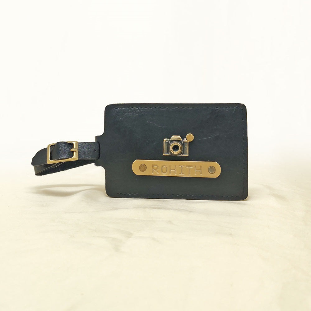 Rectangle - Charcoal Black Luggage Tag