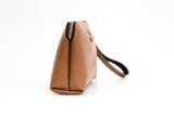 Personalized Tan Brown Pouch