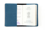 Personalized Coral Blue Passport Cover