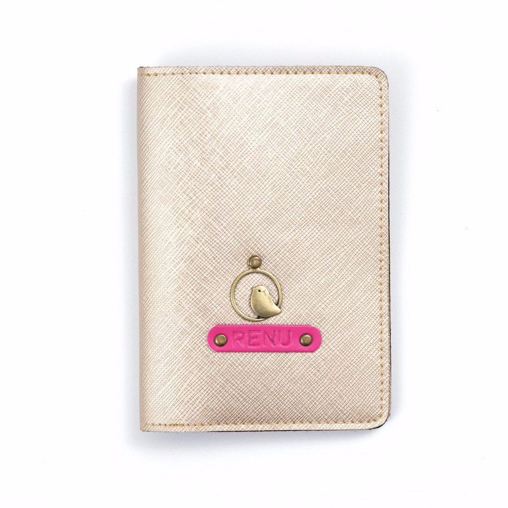 Personalized Rosegold Passport Cover