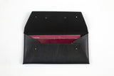Charcoal Black Cheque Book Holder