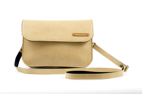 Personalized Beige Sling Bag
