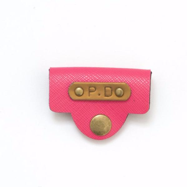 Personalized Pink Earphone Holder