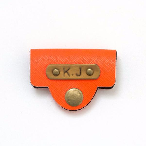 Personalized Orange Earphone Holder