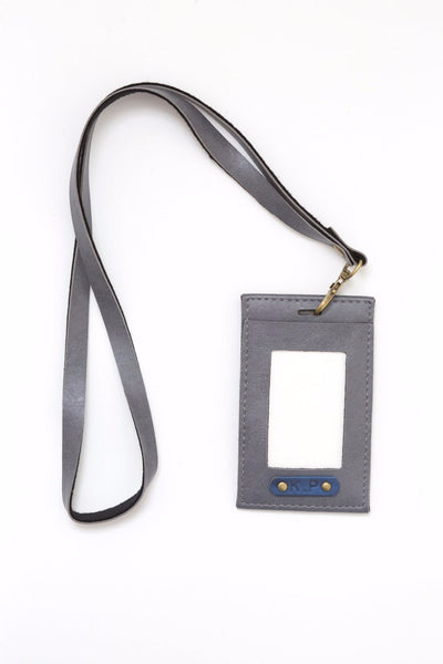 Personalized Grey Corporate ID Card Holder