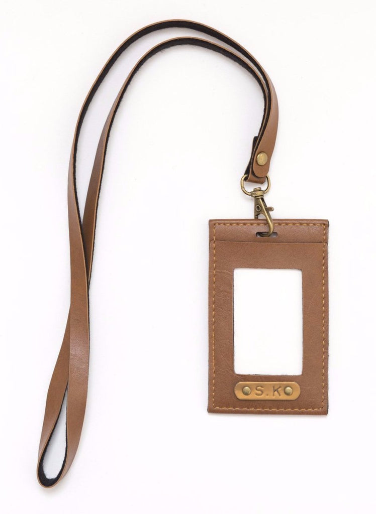 Classic Brown Corporate ID Card Holder