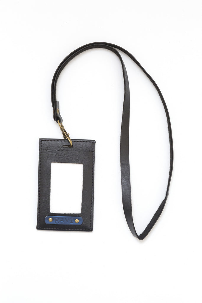 Personalized Black Corporate ID Card Holder
