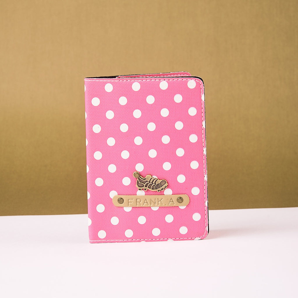 Pink Polka Dots Passport Cover
