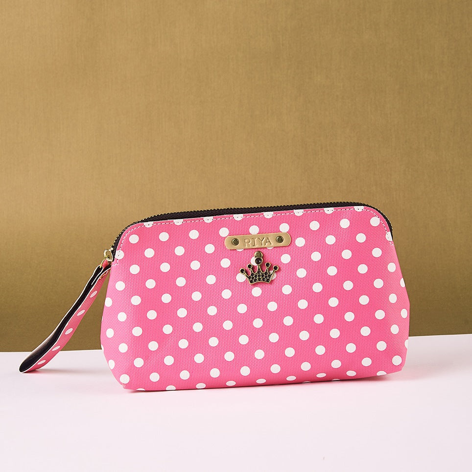 Pink Polka Dots Pouch