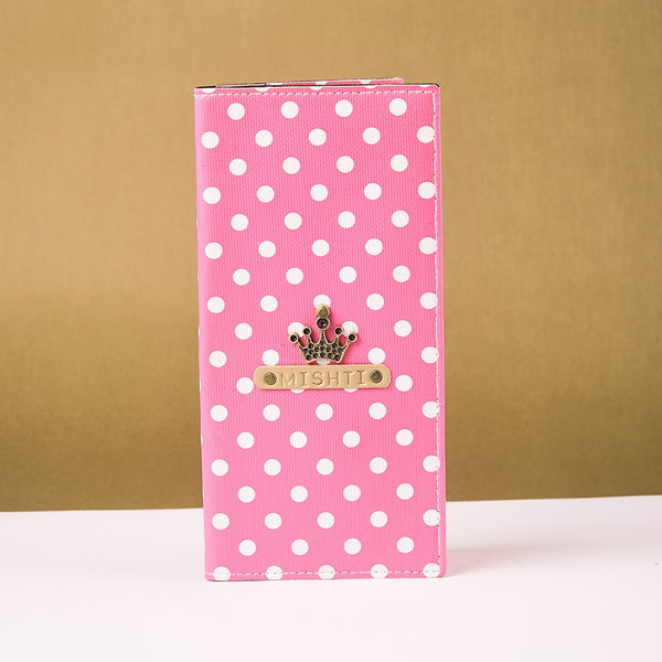 Pink Polka Dots Travel Folder