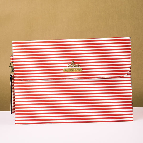 Personalized Red Lining Laptop Sleeve