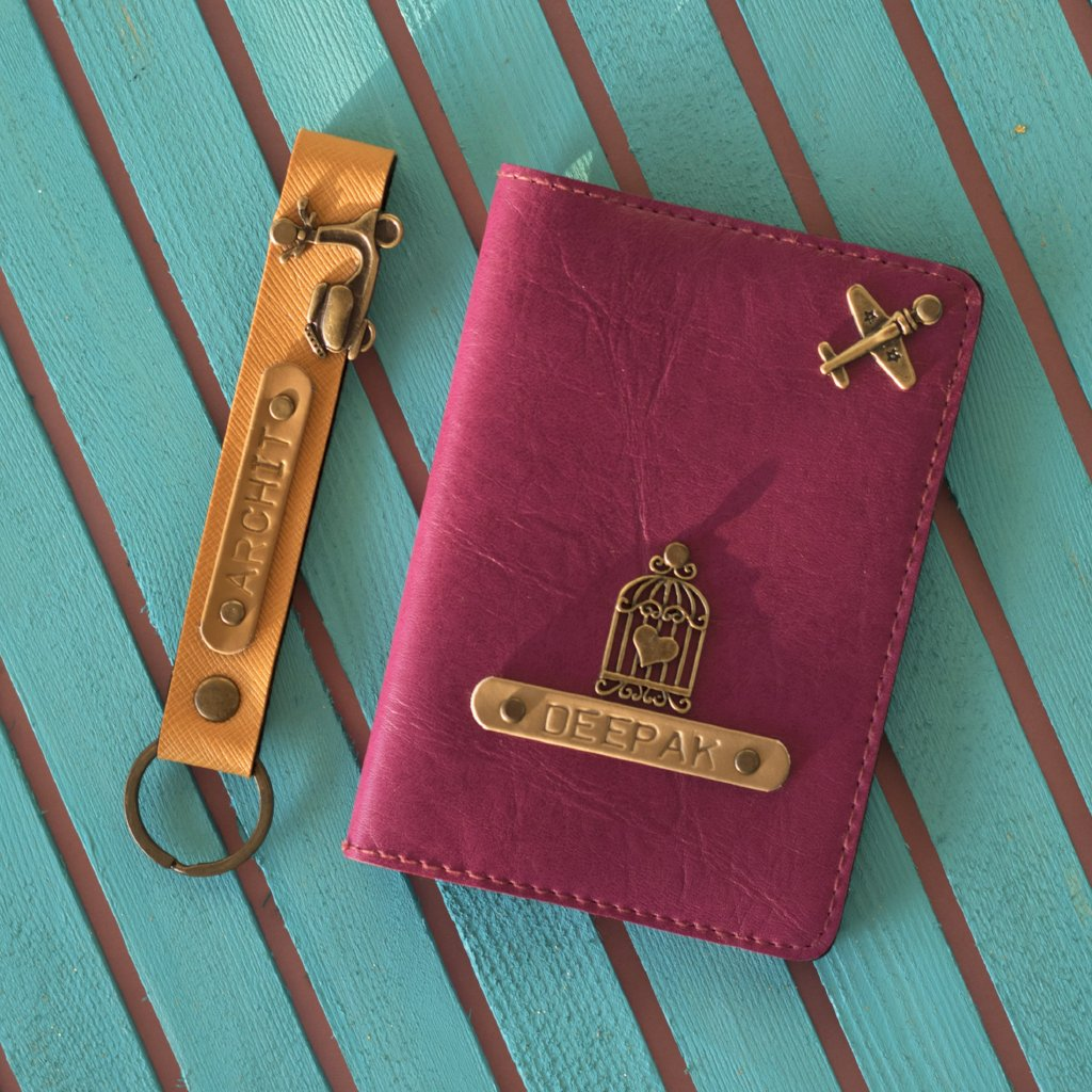 Personalized Passport Cover Combo