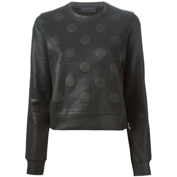 Diesel Black Gold Black Polka Dot Sweater - FABULUXE