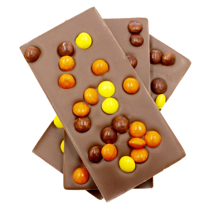 Milk Chocolate Reese's Pieces Bars, 5pc - Chocolate Shop Online New York, NY, Thierry Atlan