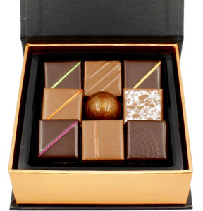 The Best Chocolate New York NY, Assorted Chocolate Box, 9pc - Thierry-ATLAN