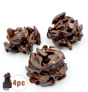 Dark Almond Clusters, 4pc - Thierry Atlan - Online Chocolate Shop New York