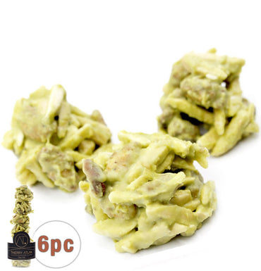 Pistachio Almond Clusters, 6pc - Chocolate Shop Online New York, NY, Thierry Atlan