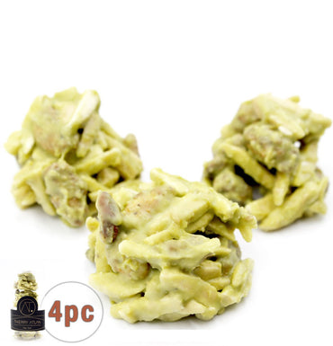 Pistachio Almond Clusters, 4pc - Online store New York Chocolates, Thierry Atlan